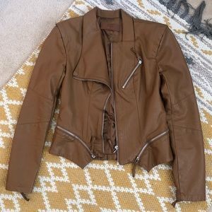 BLANK NYC Brown Faux Leather Jacket